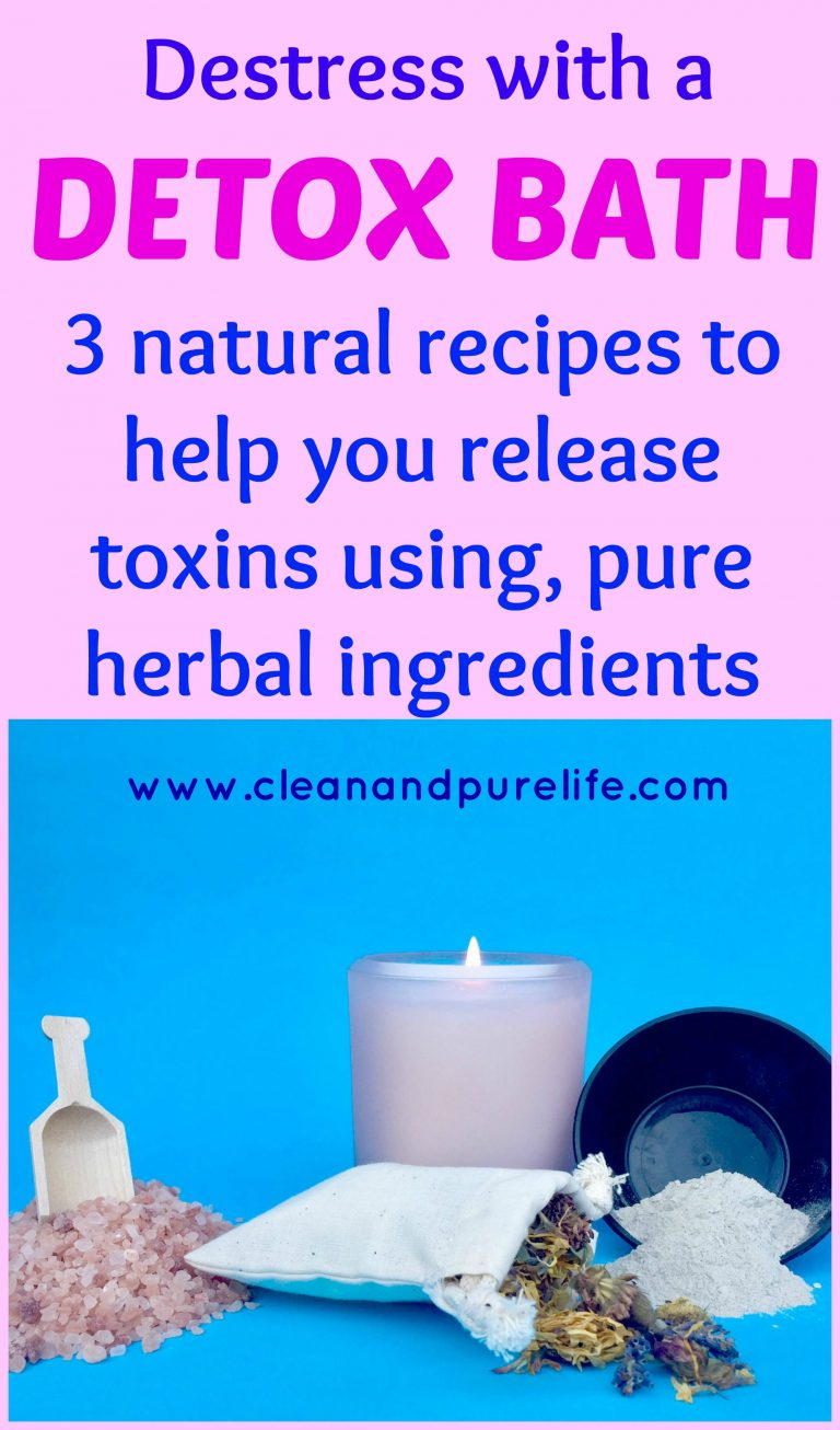 Detox bath recipes using herbal ingredients